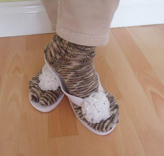 Women Split Toe Socks Japanesse Tabi Socks Thong by evefashion