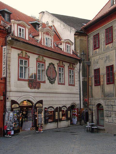 In Český Krumlov (South Bohemia), Czechia