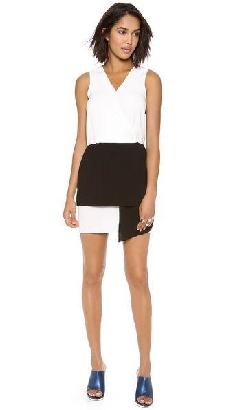 Tibi Bibelot Crepe Wrap Front Dress via shopbop.com