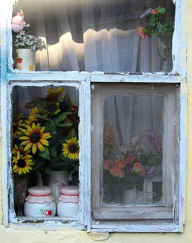 sweetDoors, Istanbul Turkey, Old Farms House, Sunflowers, Old Windows, Windows, Enie Turkeshi, Fashion Windows, Country