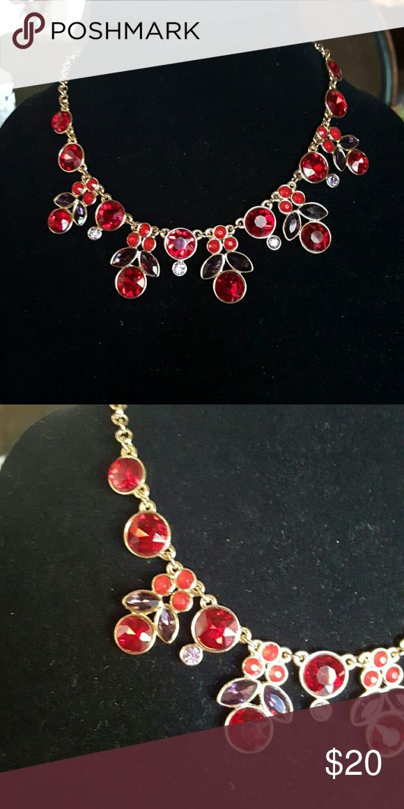 Amazing red, purple, and orchid necklace! This necklace is definitely dressy and a real wowzzer!  Another one that should be worn by royalty (like me, lol)! Jewelry Necklaces