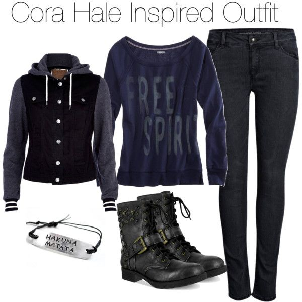 Teen Wolf - Cora Hale Inspired Outfit by staystronng on Polyvore featuring American Eagle Outfitters, River Island, ONLY, Boots, tw and CoraHale