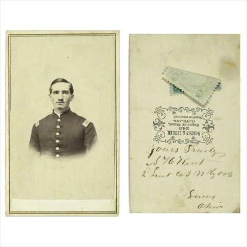 CDV of Lt. Terrence J. McDonald, 178th NY, no back mark, with bold ink signature on verso. McDonald enlisted in the 178th NY as 1st lieutenant in August 1863 and was promoted captain of Company F. in January 1865. The easterners suffered the debacle of Bank's Red River expedition in lower Louisiana and the fight at Pleasant Hill followed by sharp skirmishing in Arkansas and Tennessee. McDonald's regiment participated in the final capture of Mobile and mustered out in May 1865.