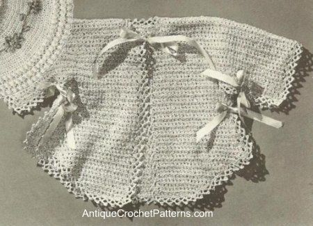 Free+Crochet+Baby+Dress+Patterns | Infant Sacque - Baby Clothes - Free Crochet Pattern