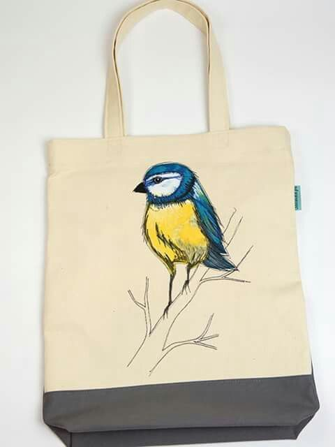 Blue tit bag by Jolinda