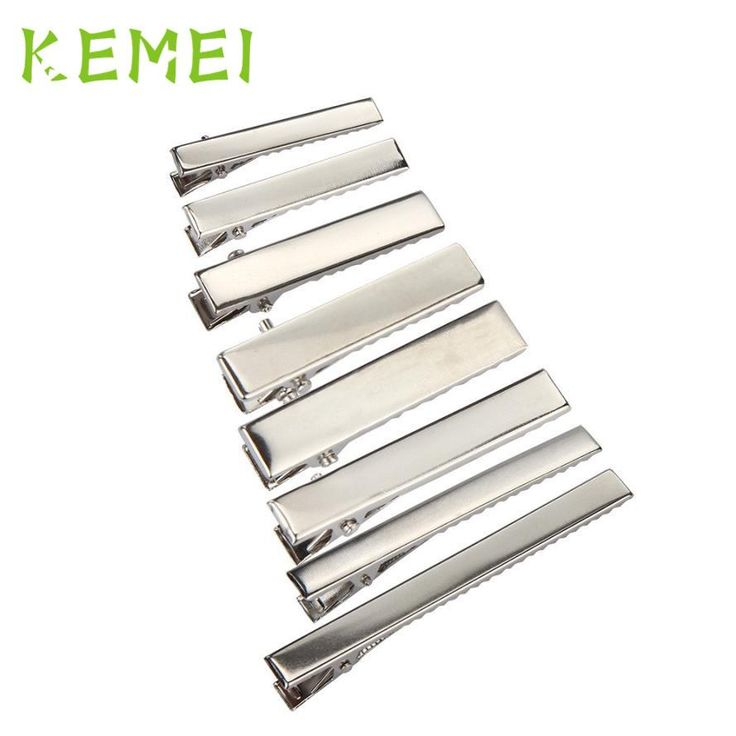 [Visit to Buy] Horquilla 50 Pcs Silver Metal Plane Single Prong Alligator Hair Clips Barrette For Bows DIY Accessories Clamps Pen 17Apr27 #Advertisement