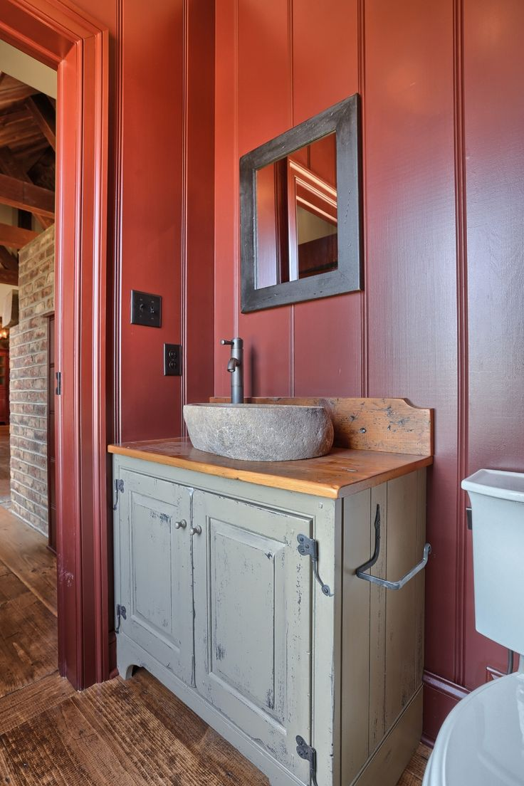 Primitive country bathroom ideas - Find This Pin And More On Country And Primitive Bathrooms