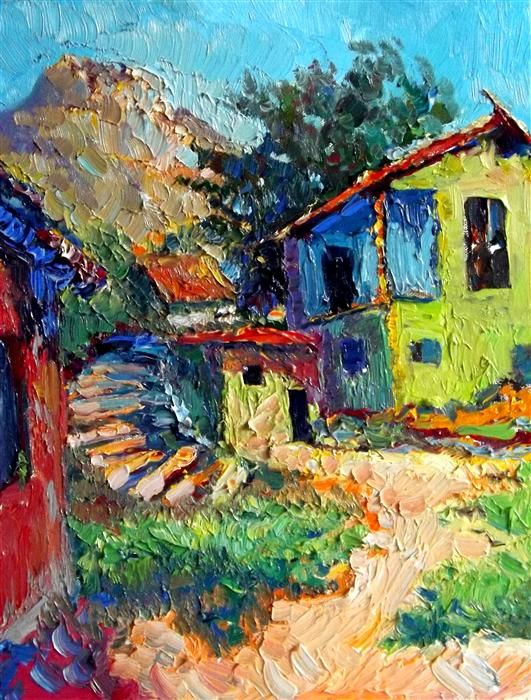 Old Green House, Midday by Suren Nersisyan, oil painting