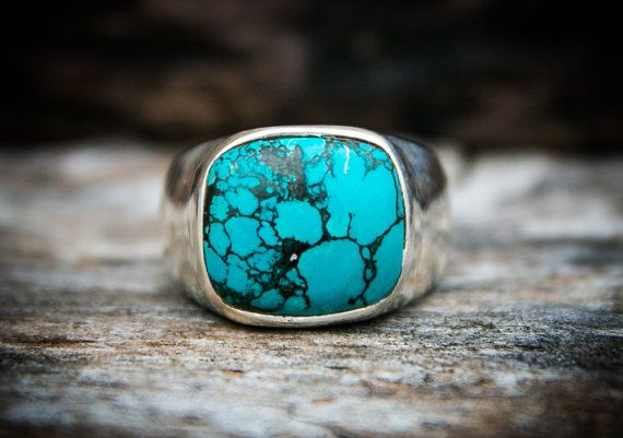 Hey, I found this really awesome Etsy listing at https://www.etsy.com/listing/260539949/turquoise-ring-turquoise-mens-ring-size