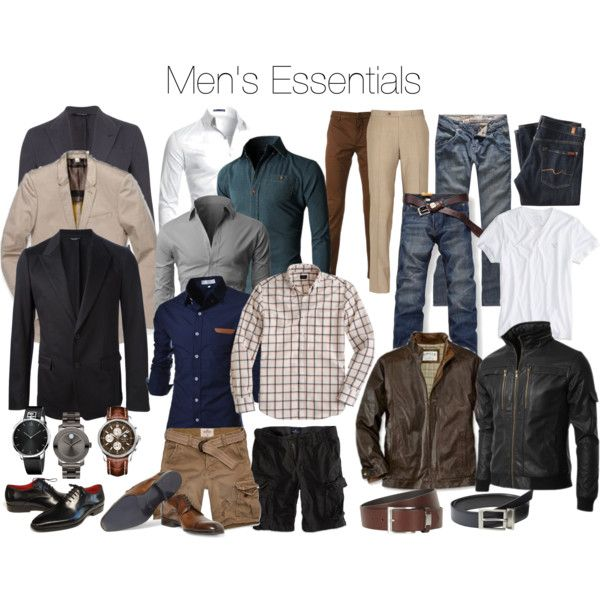 Men's Essential by keri-cruz on Polyvore featuring Hollister Co., Movado, Dolce&Gabbana, J.Crew, American Eagle Outfitters, Doublju, Volcom, Canali, 7 For All Mankind and Lanvin