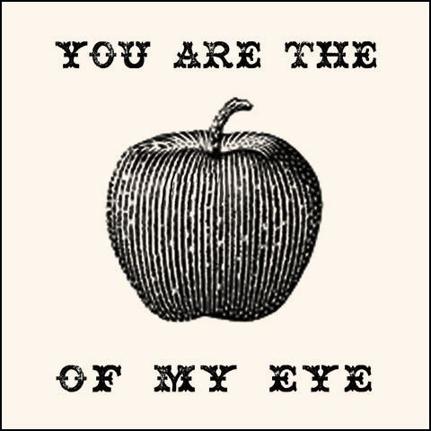 apple of my eye.: Life 3 Laugh, Apple Of My Eye, Notwhite Wedding, Clip Art, Random Posters, Nautical Party, Blue Apples