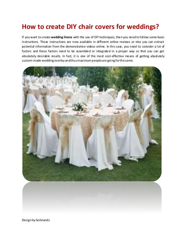 How To Create DIY Chair Covers For Weddings