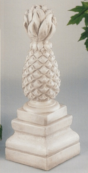Pineapple lawn ornament (a sign of hospitality).  I have two of these, in front of house :)