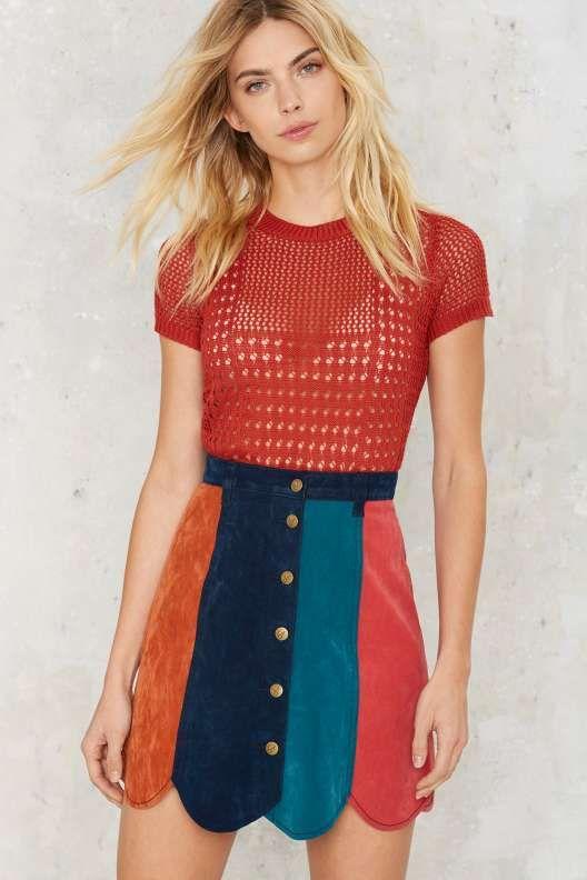 MINKPINK Ray of Lights A-Line Skirt