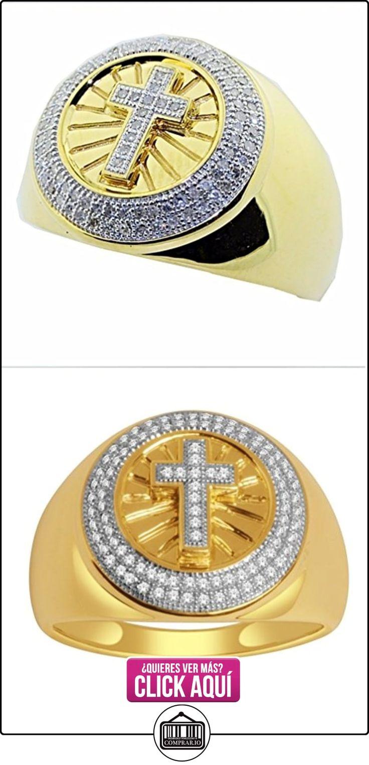 rings-midwestjewellery. com Hombre Diamante grande Anillo con Cruz 0,3quilates oro amarillo de 10K 17Mm De Ancho (0,3quilates)  ✿ Joyas para hombres especiales - lujo ✿ ▬► Ver oferta: http://comprar.io/goto/B015QM20LS