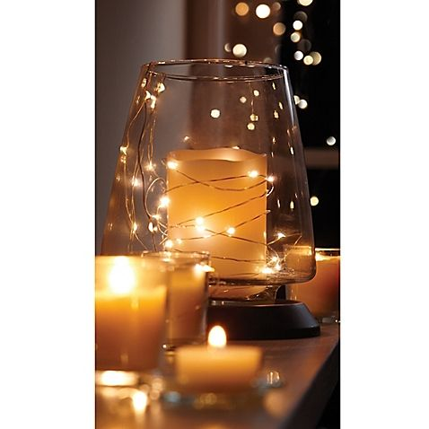 10-Foot LED Battery-Operated String Lights in Silver