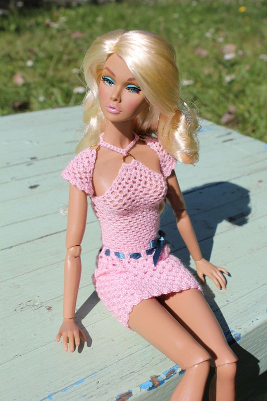 """poppy """"Sweet confession"""" in pink crochet dress 7 
