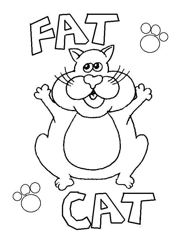 fat cat free coloring pages for kids