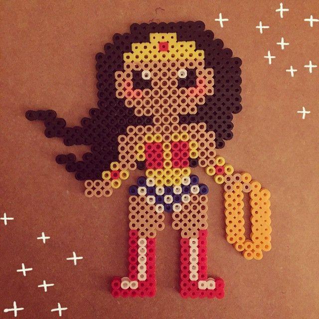 Wonder Woman perler beads by crackersinbed
