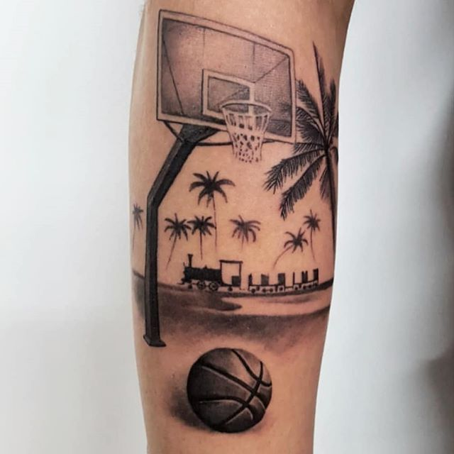 New The 10 Best Tattoo Ideas Today With Pictures Basketball In Miami Hoop Basketball Basket Ball In 2020 Basketball Tattoos Tattoos For Guys Sleeve Tattoos