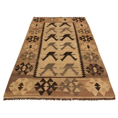 Isabelline One-of-a-Kind Sinclair Hand-Woven Beige Area Rug