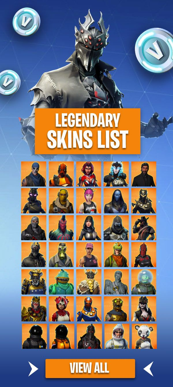 Fortnite Legendary Skins List 2000 V Bucks Orange Color