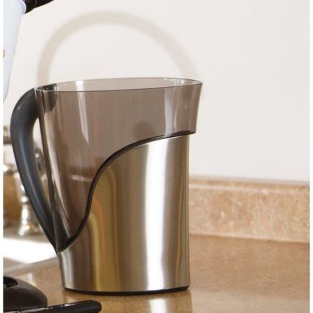 ZeroWater 8-Cup Stainless Steel Pitcher with Free TDS Meter (Total Dissolved Solids) ZS-008, Multicolor