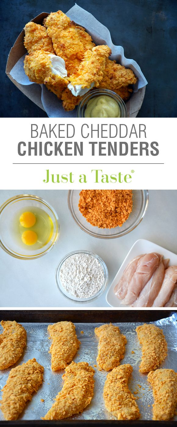 Baked Cheddar Chicken Tenders #recipe as seen on the @TODAY Show