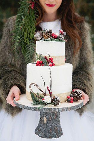 60 сказочных зимних свадебных тортов