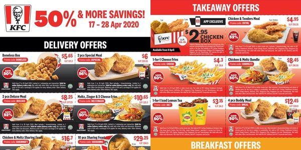 Kfc Singapore Enjoy 50 More Saving Kfc Food Menu Food