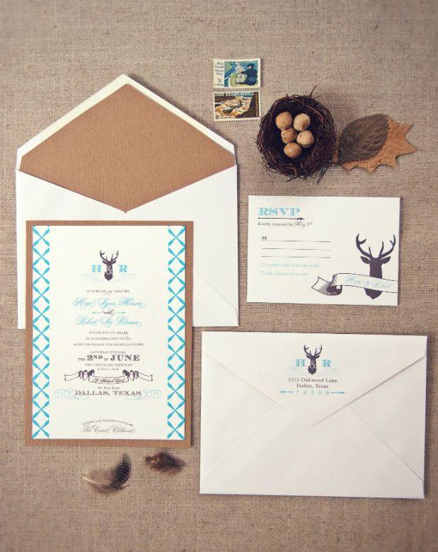 deer hunter wedding invitations%0A Antler   Deer Wedding Invitations via  HoneyBeeInvites  my beautiful
