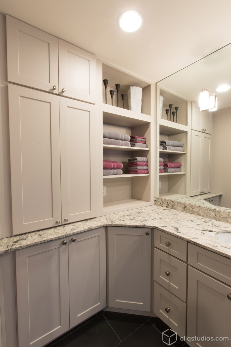 Dayton Painted Linen Mission Bath Vanity Cabinets From CliqStudios.com