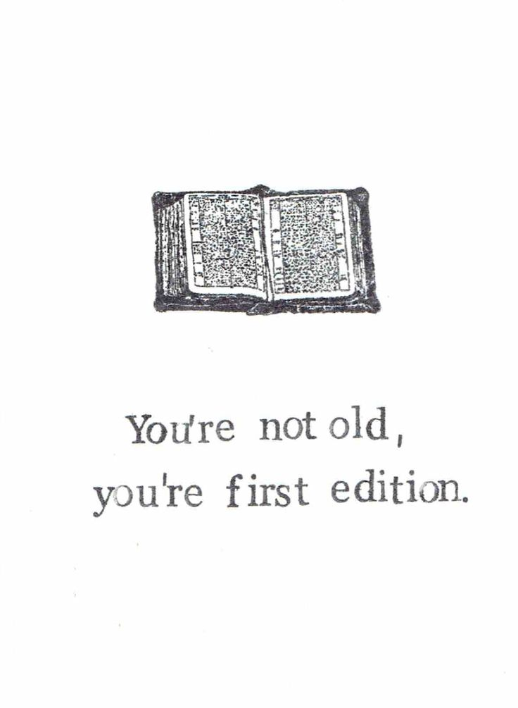 You're First Edition Birthday Card | Funny Over The Hill Books Literature Writer…