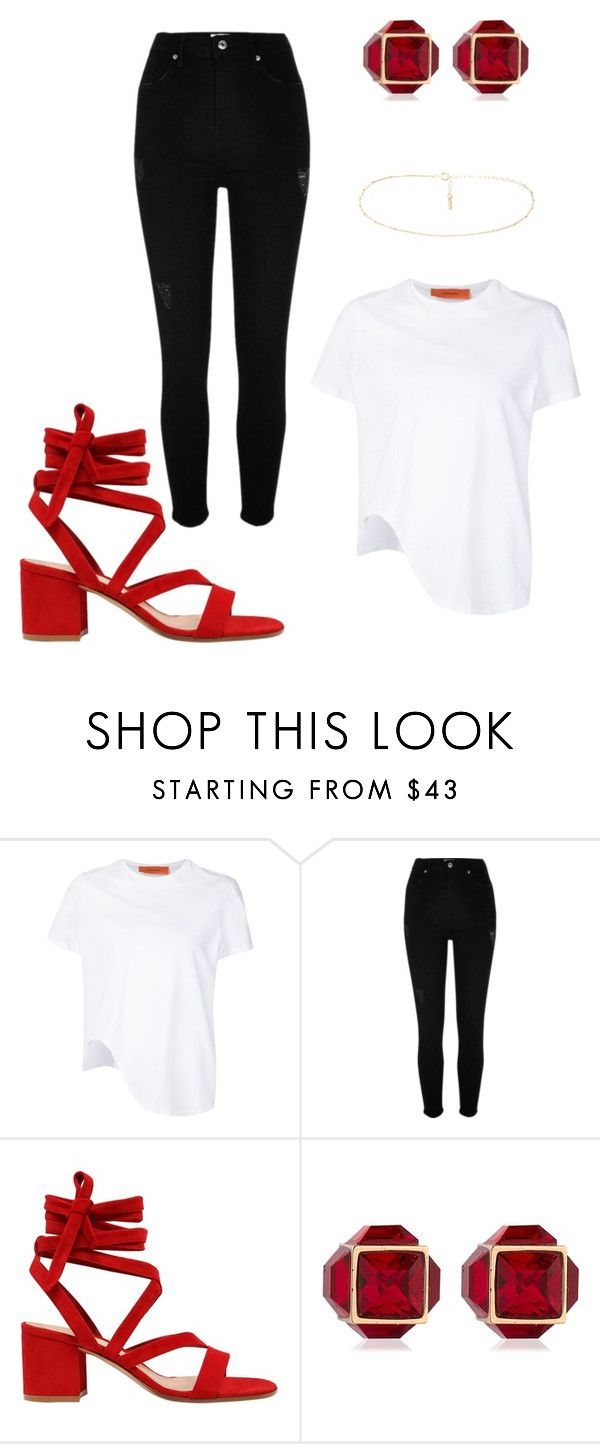 """SCARLET"" by giddygalmvr on Polyvore featuring Coperni Femme, River Island, Gianvito Rossi and Vita Fede"