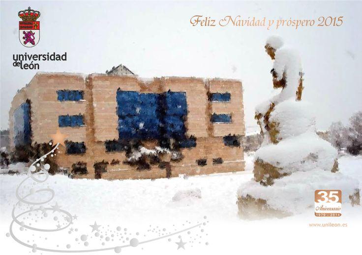 Desde la Universidad de León, os deseamos que esta Navidad sea motivo de felicidad y que el año venidero reserve muchos éxitos y prosperidad para todos.