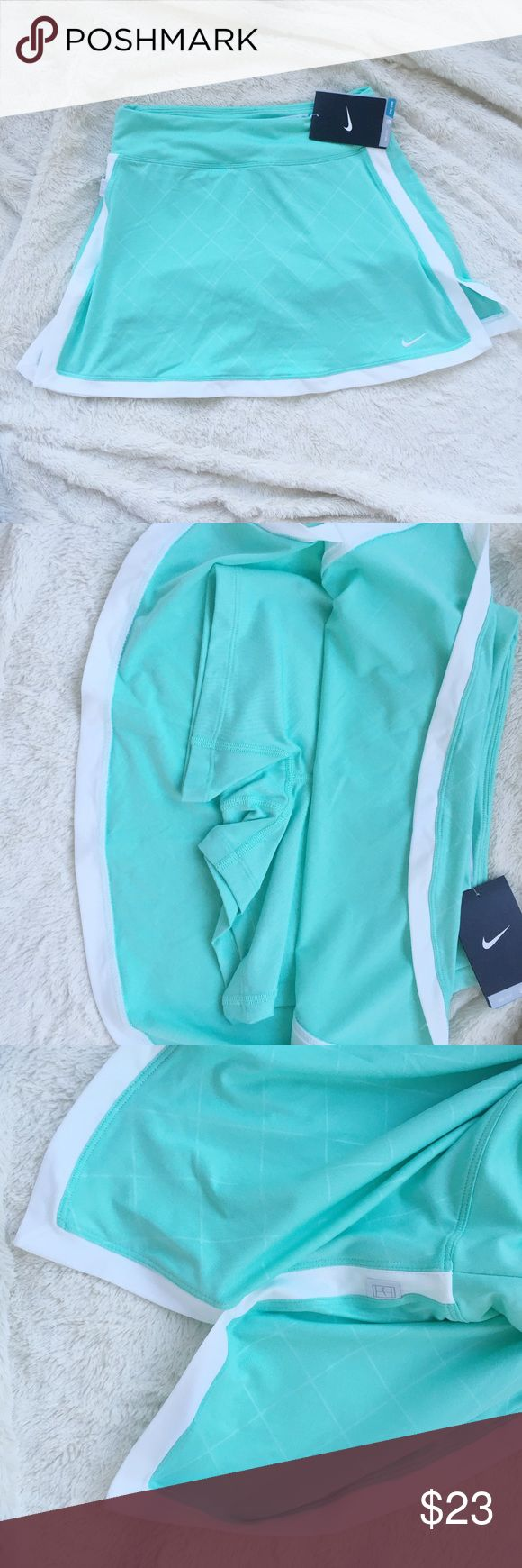 NWT Nike Tennis Skirt - Light Blue - XS Nike Tennis Skirt   - Size XS  - Brand New with Tags  - Color: Light blue and white  - Offers considered Nike Skirts