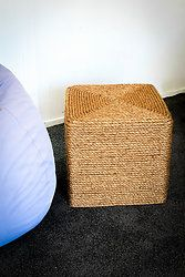 Rope Covered Ottoman