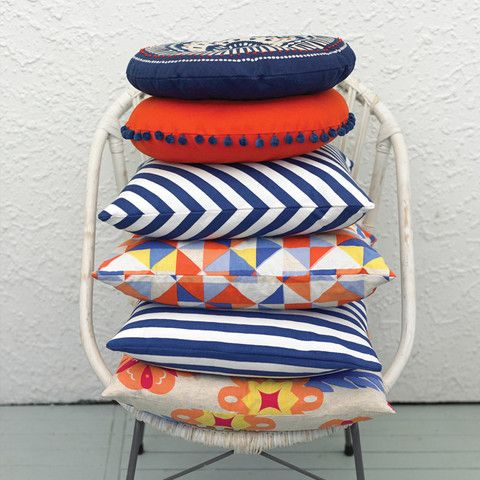 Sailor Horizontal Stripe Woven Cushion Cover by Citta Design | Citta Design