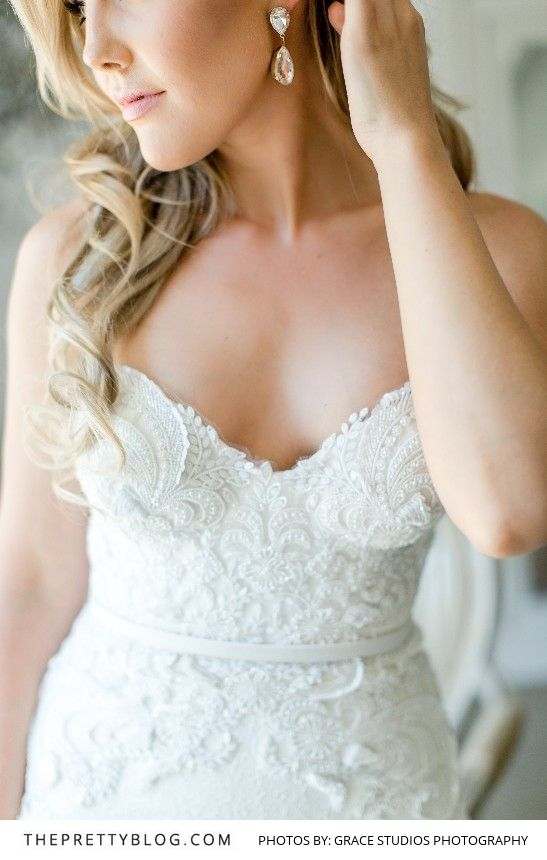 Beautiful Beaded Lace Wedding Dress | Photography by Grace Studios Photography | Dress by Casey Jeanne | Bridal Make-up by Ashleigh McHaffie
