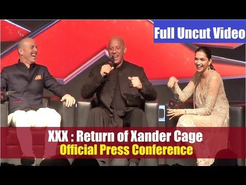 WATCH XXX first official Press Conference in India | Deepika Padukone, Vin Diesel. Click here to see full video >> https://youtu.be/g6J67kNwJ-s #xxx #vindiesel #deepikapadukone #bollywood #bollywoodnews