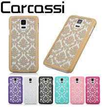 Novel Retro Vintage Palace Paper Cut Paisley Flower Pattern Henna Floral PC Hard Phone Case For Samsung Galaxy S4 i9500 S5 Cases(China (Mainland))