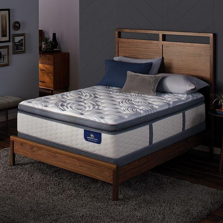 serta dalston super pillow top mattress u0026 box spring set white