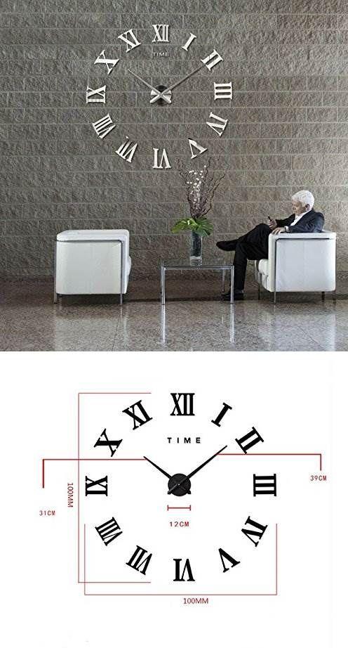 Riesen Wanduhr Zum Aufkleben Uhr Affiliatelink Uhren