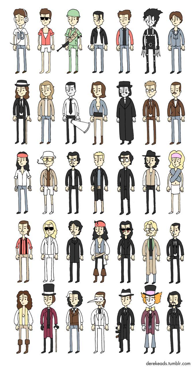 Actors in Multiple Characters - Johnny Depp