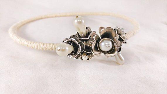 Wedding Crowns - Stefana ''Summer Flowers''/ Greek Crowns / Orthodox Greek Wedding Crowns / Στεφανα Γαμου / Greek Tiaras /  cotton