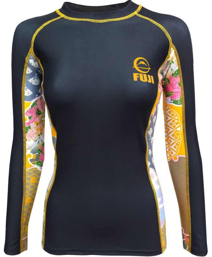 Fuji Women's Kimono Jiu Jitsu Rash Guard - Black NOGI Grappling & MMA After careful research and design Fuji Sports is proud to present our first rash guard made especially for women; the Fuji Sports