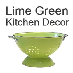 I have done a lot of searching for the best lime green kitchen accessories and decor items for the home. I ahve found various gadgets and small appliances such as...        * lime green toasters      * lime green dish towels      * lime green gadgets      * lime green kitchenaid mixers      * lime green bar stools      * lime green tea infusers      * lime green cookware      * lime green serving dishes      * lime green coffee mugs      * lime green table runners                      ...