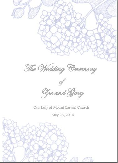 wedding ceremony booklet cover