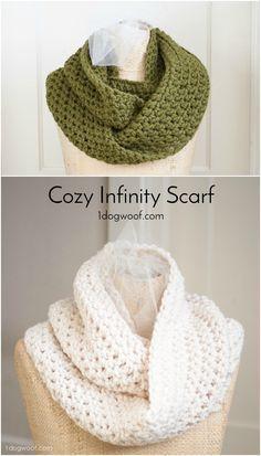 Este cachecol infinito simples, fácil e acolhedor usa pontos básicos de crochet e pode ser ...