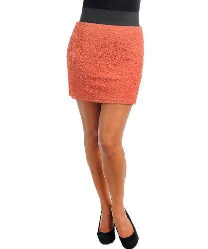 Plus Size Orange Rock Star Skirt alight. $19.99